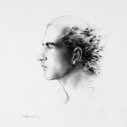 "Profile No. 1 - 18"" x 24"", Charcoal on 100# Vellum Bristol"