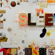 "Sleep - 44"" x 66"", Assemblage on Floating Panel"