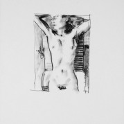 "Sunbather - 18"" x 24"", Charcoal on 100# Vellum Bristol"