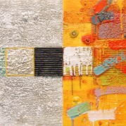 "8Across - 32""x16"", Encaustic/Oil SOLD"