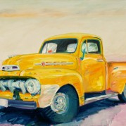 "Truck - 30""x40"", Oil on canvas framed SOLD"